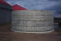 Monolithic reinforced concrete tank in Bērvircava