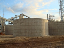 Covered monolithic reinforced concrete tanks (5 pcs)