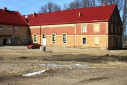 Reconstruction of boiler house in municipal council building of Straupe