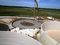 5 monolithic reinforced concrete tanks in Vinni, Estonia