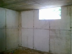 Monolithic reinforced concrete foundation in Lielandzas