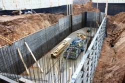 Construction of technical room for pre-storage tanks of liquid manure and other substrates