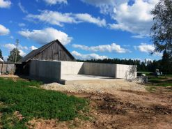 Manure storage construction in Augstkalni