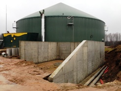 2 monolithic reinforced concrete tanks in Litene