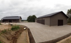 Sheep barn, machinery storage and manure storage construction