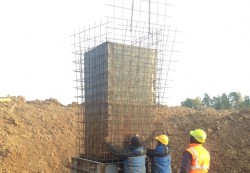 Construction of a draining well