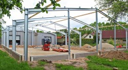 Construction of production building