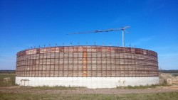Liquid manure storage tank