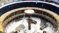 Construction of reinforced concrete tank in Germany