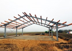 Agricultural machinery shed construction