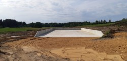Construction of a solid manure warehouse