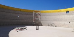 Construction of a reinforced concrete tanks in the France