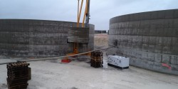 Construction of reinforced concrete tanks in France
