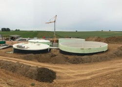 Construction of four reinforced concrete tanks in France