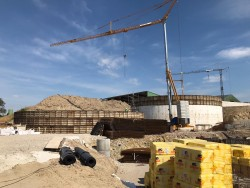 Construction of four reinforced concrete tanks in Bust, France