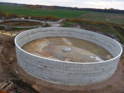 Construction of a reinforced concrete tank in Ance county