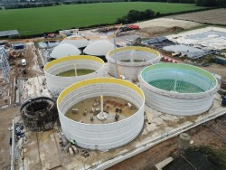 Construction of five reinforced concrete tanks in Attleborough, United Kingdom